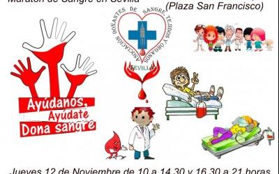 Maratón de donaciones de sangre en Sevilla