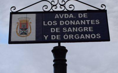 Inauguración de la Avd. Donantes de Sangre y Órganos en Castilleja de la Cuesta.