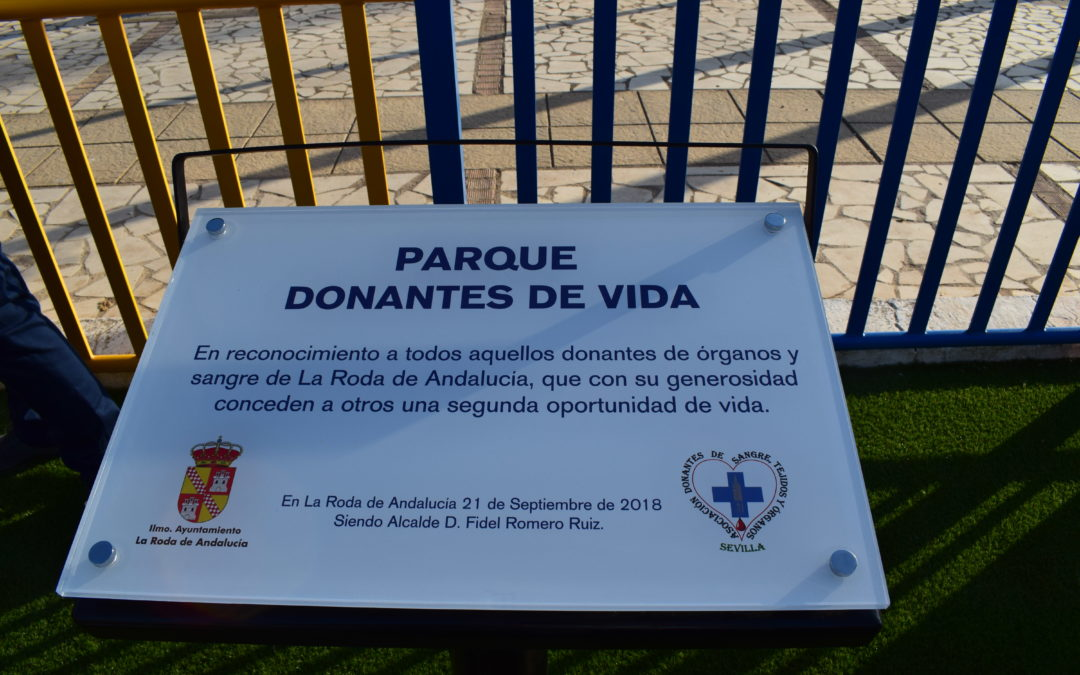 "La Roda de Andalucía rotula el parque ""Donantes de vida"""