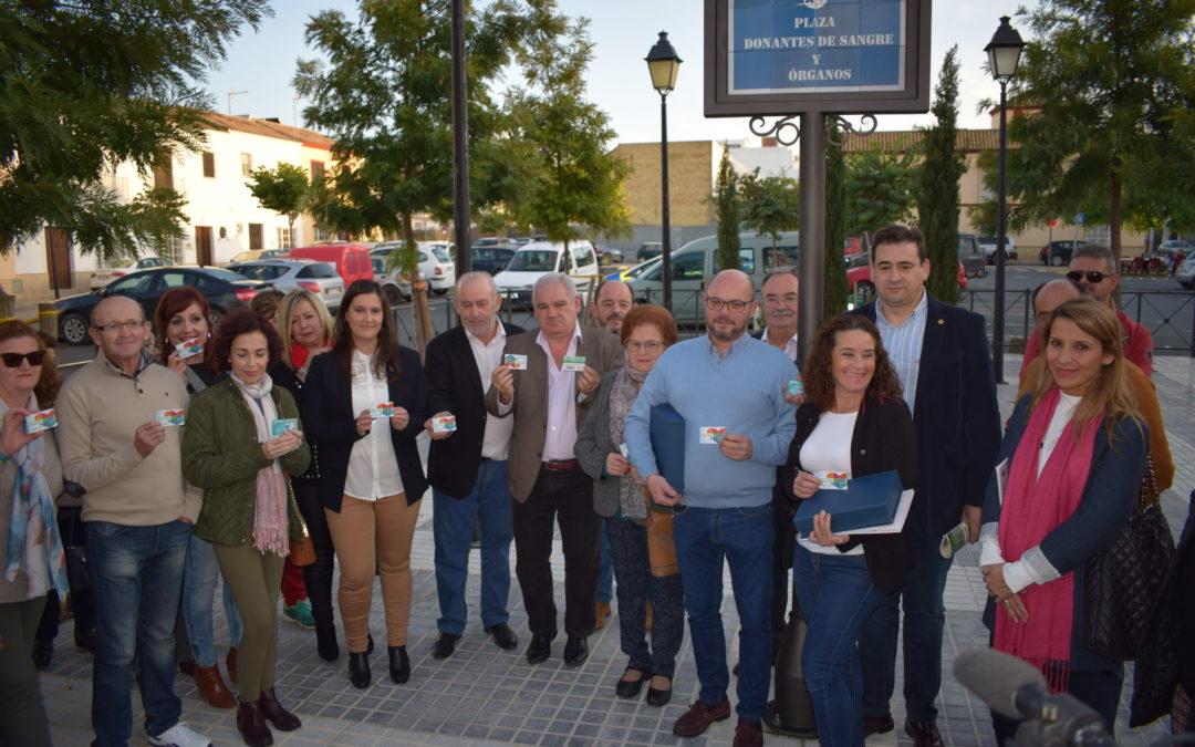 La Puebla de Cazalla rotula Plaza Donantes de Sangre y Órganos