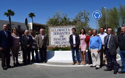 Inauguración rotonda DONANTES DE SANGRE Y ÓRGANOS en La Campana